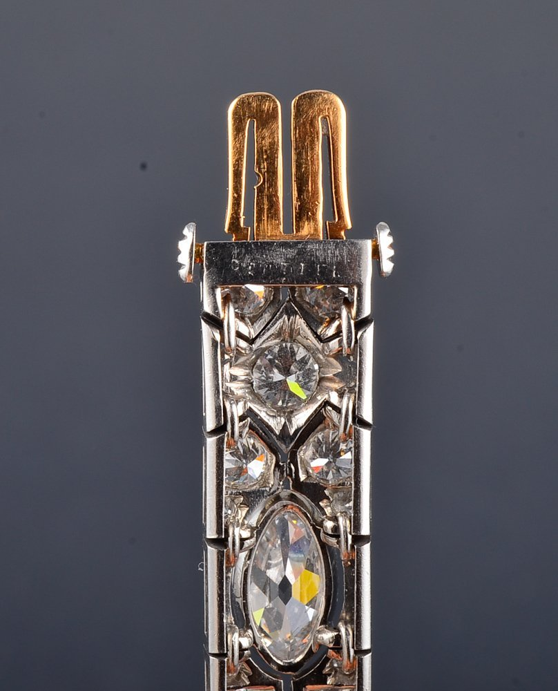 169: Cartier Art Deco Platinum diamond bracelet - 2