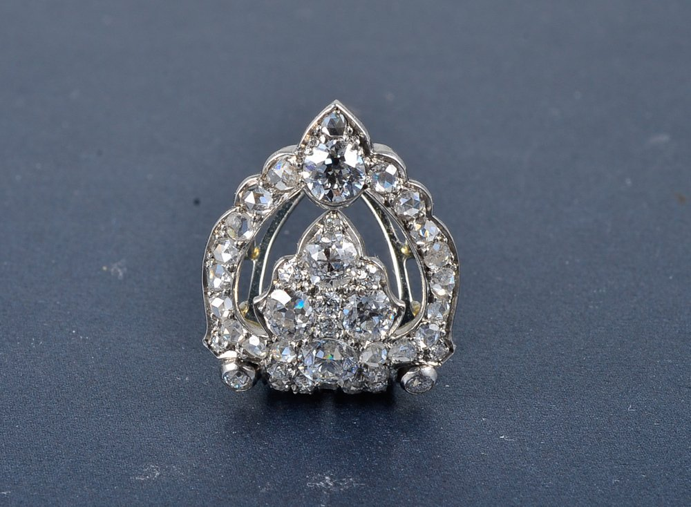 "241:  ""Cartier platinum diamond brooch"""