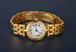 """248: """"Cartier lady's Panthere gold wrist watch"""""""