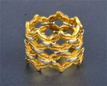 "328: ""Buccellati gold open weave band"""