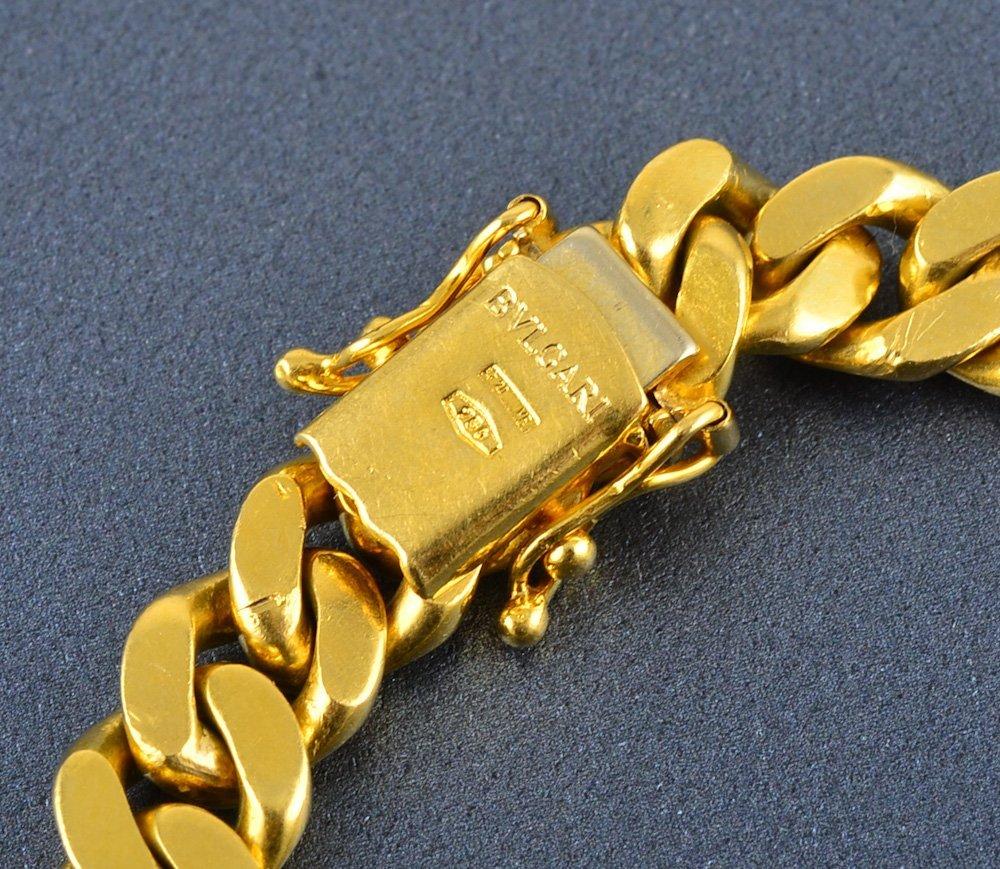362: Bvlgari 18K Roman coin heavy cable chain necklace - 3