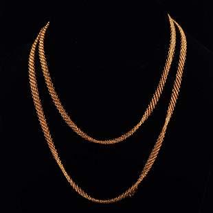 Tiffany Peretti Gold Mesh Necklace