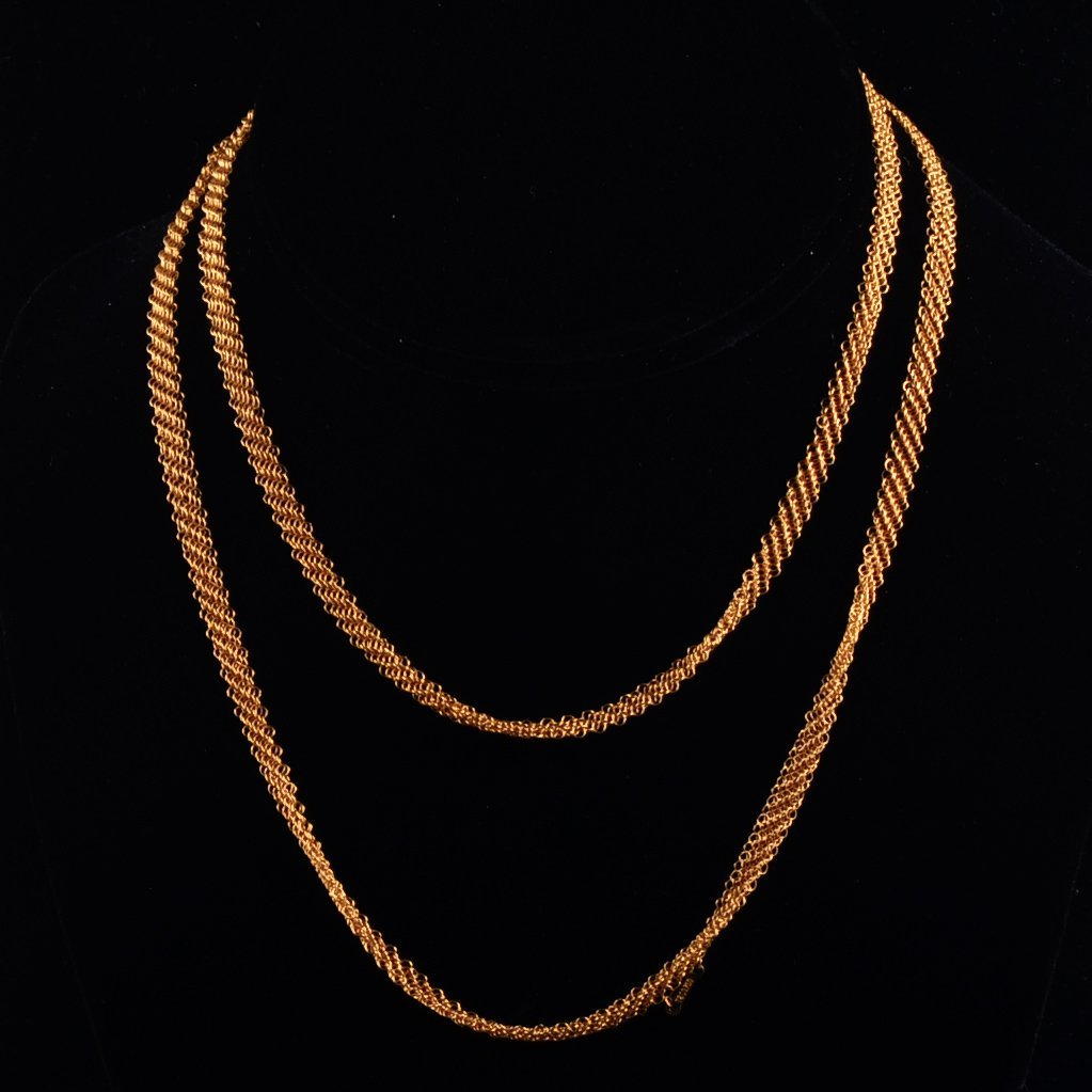 1: Tiffany Peretti Gold Mesh Necklace
