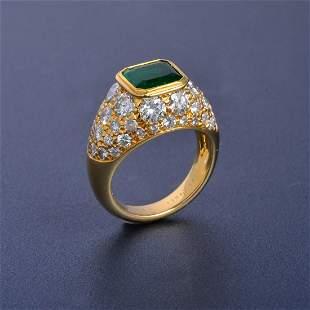 VCA Emerald and Diamond Ring