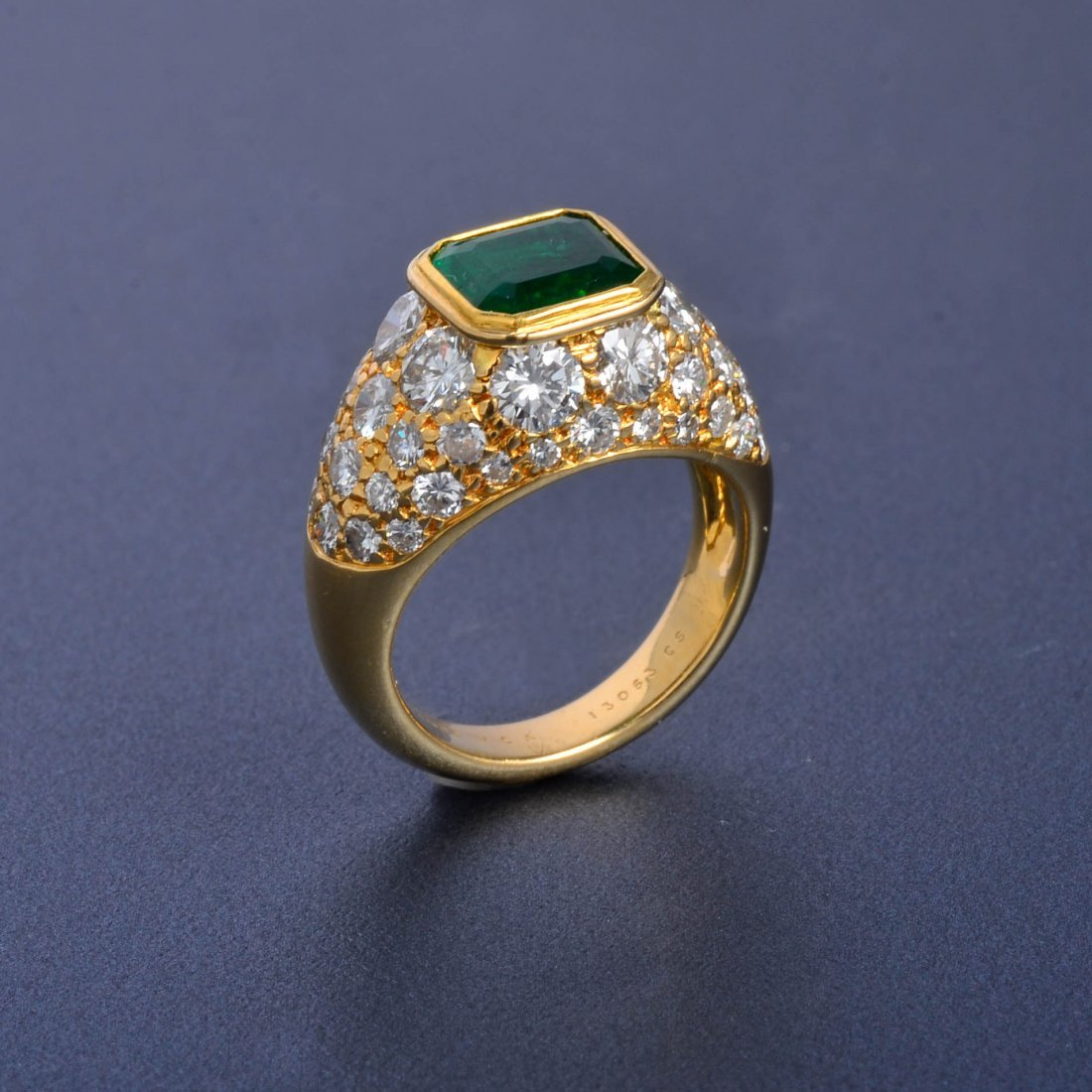 19: VCA Emerald and Diamond Ring