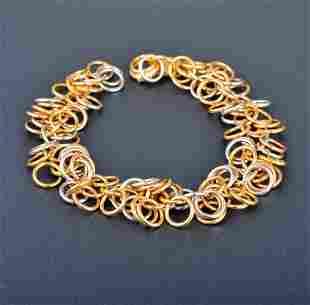 Hermes 2-tone Circles Bracelet