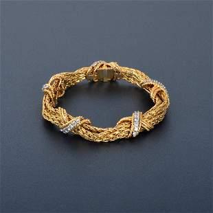 14K Diamond Rope Chain Bracelet