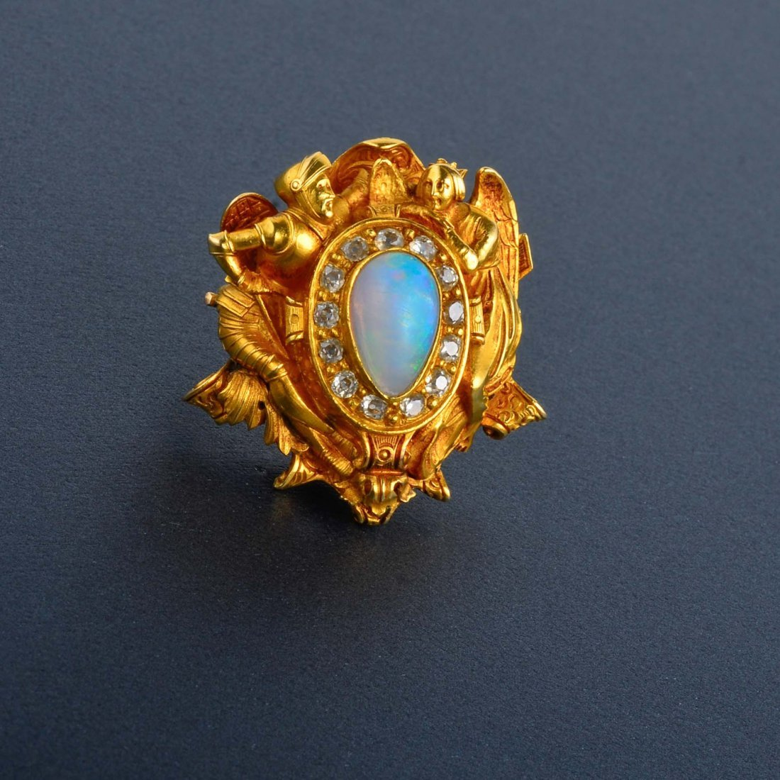 24: Antique Opal and Diamond Brooch
