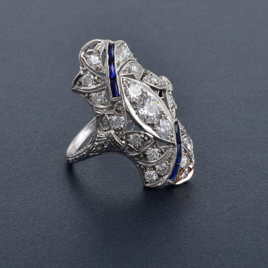 339: Art Deco Platinum Diamond Ring