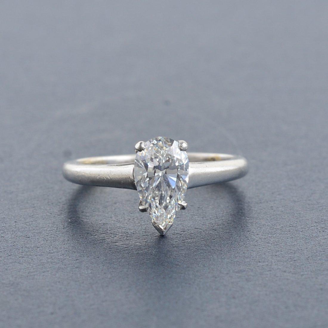 352: Tiffany Platinum Diamond Engagement Ring
