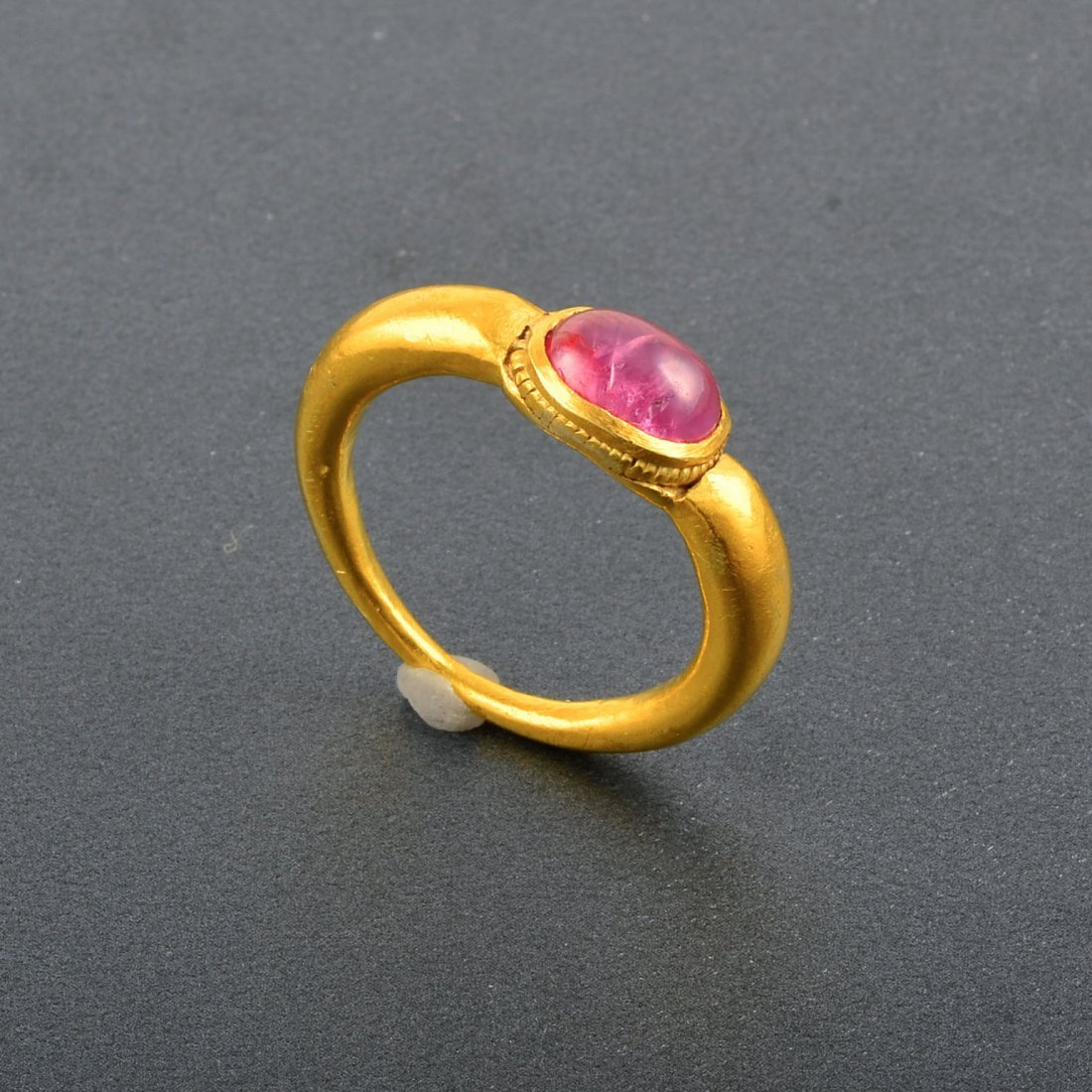 18K YG Pink Tourmaline Ring
