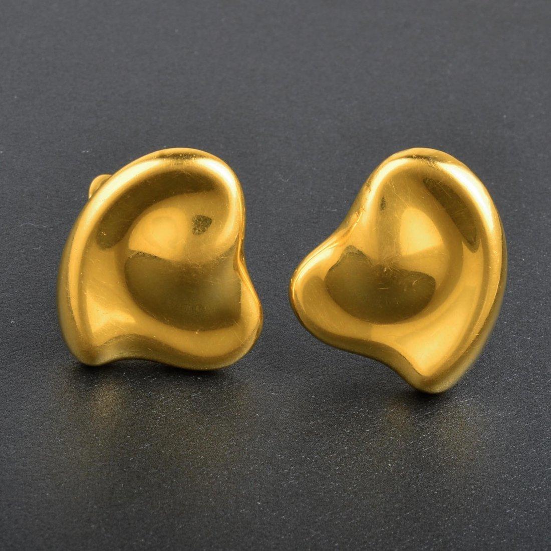 Tiffany & Co. Elsa Peretti 18K YG Kidney Bean Earrings