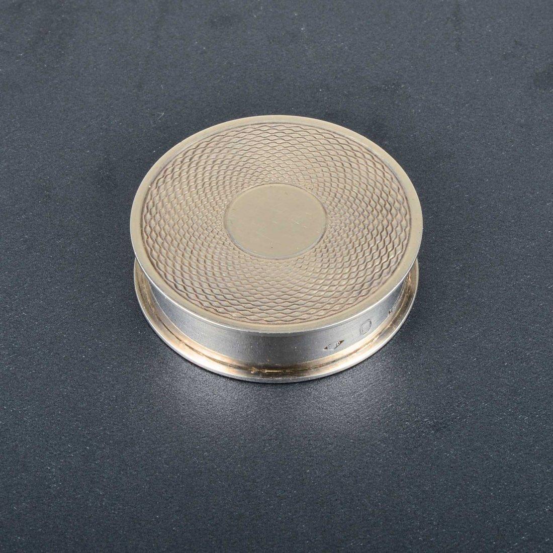 Hermes Silver Pillbox