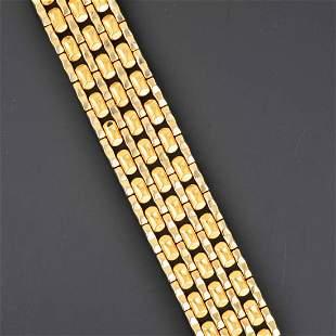 18K YG Link Bracelet