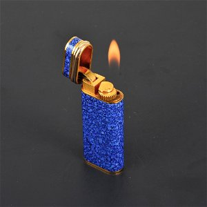 Cartier Tri-Color RIM Enamel Lighter (Gold Plated)