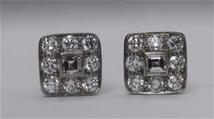Tiffany  Co 18k Gold Diamond earrings