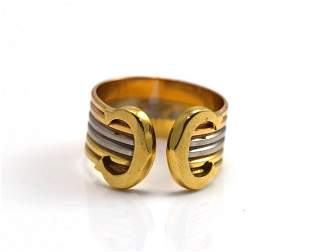 Cartier Three- Tone Color Gold Ring