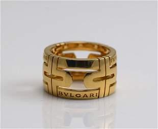 """Bvlgari """"Open Work"""" 18k Gold Ring"""