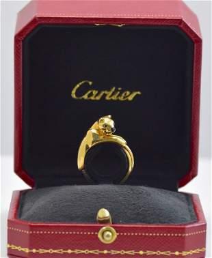 Cartier 18K Tri-Color Gold Classic Leopard Ring