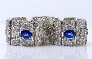 18K WG, Sapphire and Diamond Bracelet