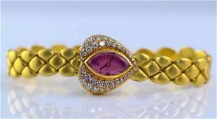 Audemars Piguet 18K YG Diamond Heart Shaped Watch
