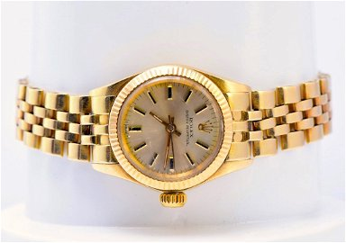 Rolex 18K Yellow Gold Ladies Watch