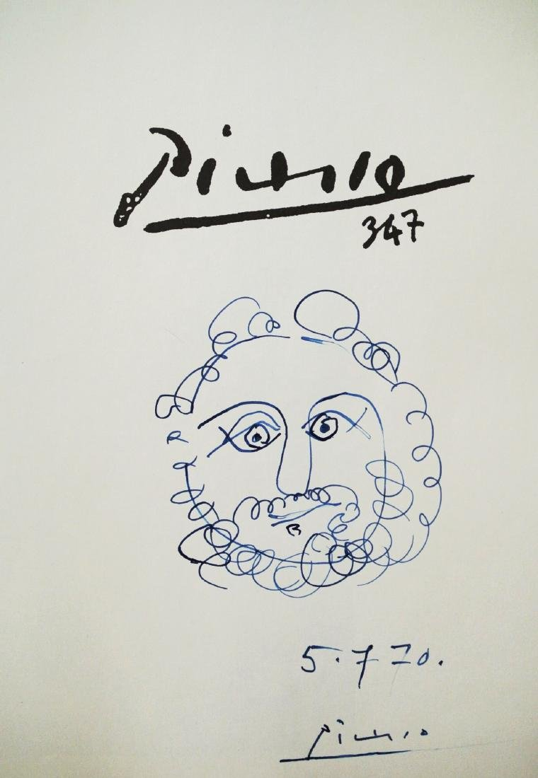 """""""Picasso 347""""  Autographed Copy With Drawing"""