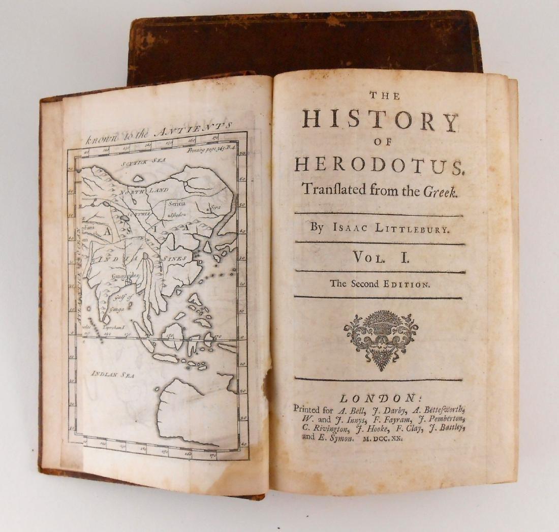 The History Of Herodotus, 2 Vols.,1720  Edition