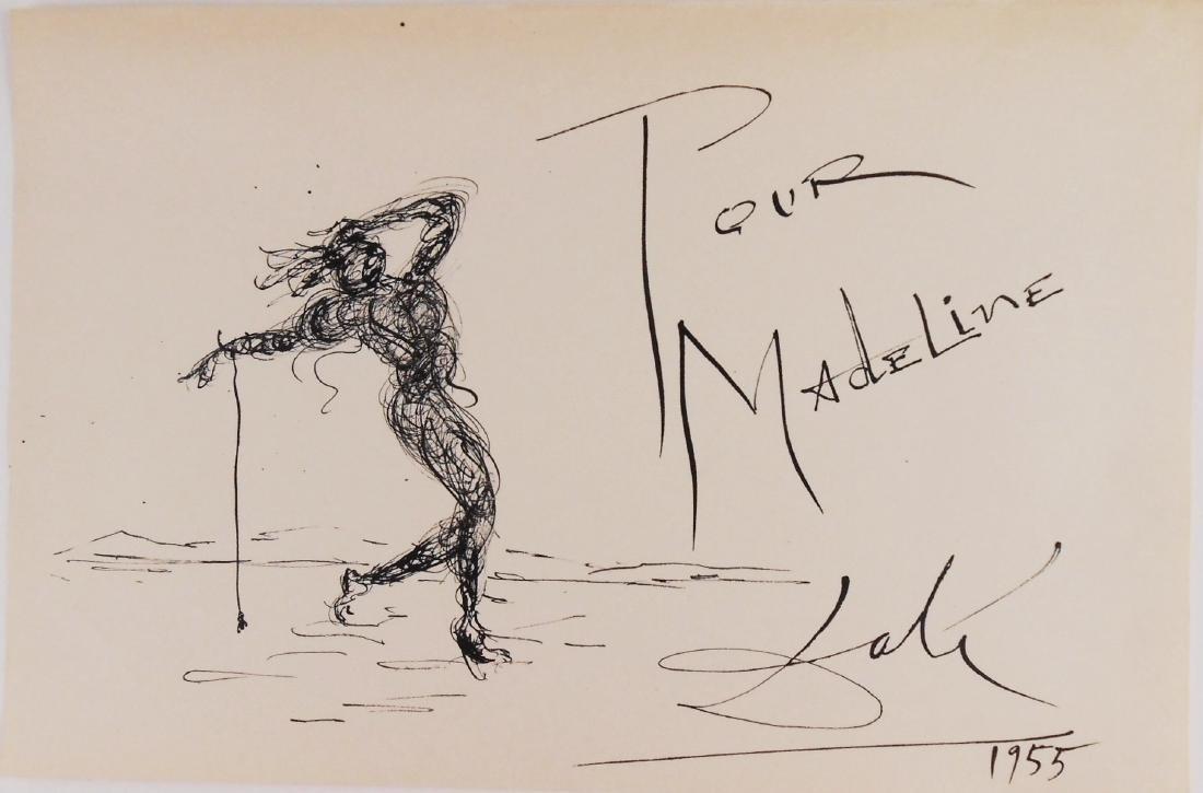Salvador Dali (1904-1989) Pen & Ink Drawing