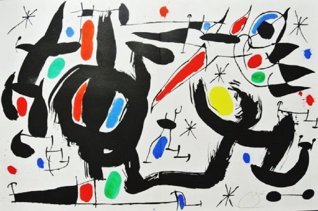 Joan Miro (1893-1983) Color Lithograph
