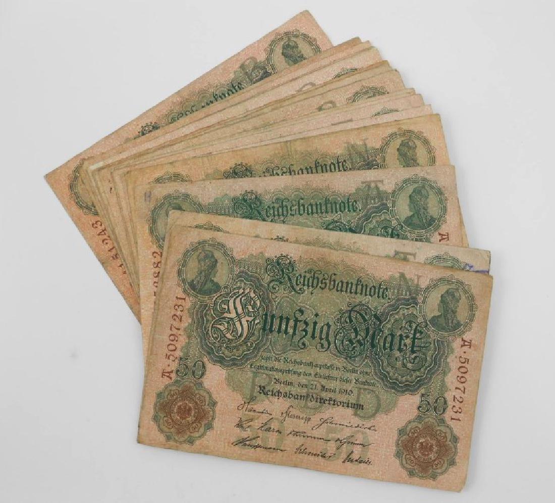 German Banknotes, Circa 1910