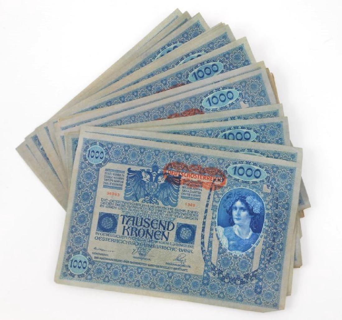 Austrian Banknotes, Circa 1902