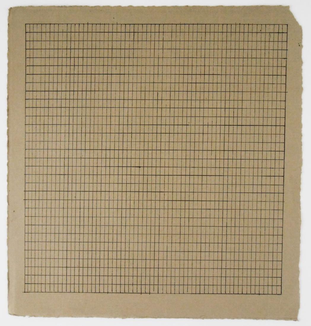 Agnes Martin (1912-2004) Ink On Paper