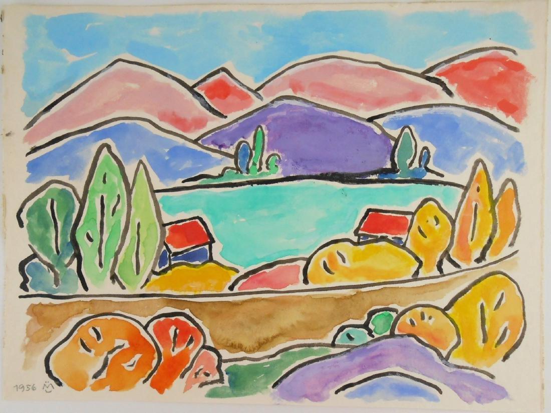 Gabriele Munter (1877-1962) Watercolor & Gouache
