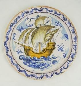 Spanish 19th Century Ceramic Plate