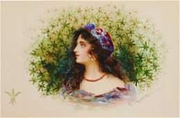 Georg Friedrich Papperitz (1846-1918) Watercolor
