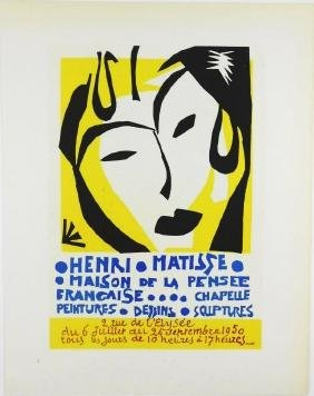 Henri Matisse (1869-1954) Color Lithograph