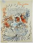 Jean Cocteau (1889-1963) Original Lithograph