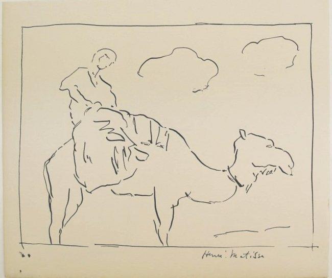 Henri Matisse (1869-1954) Ink Drawing, Morocco