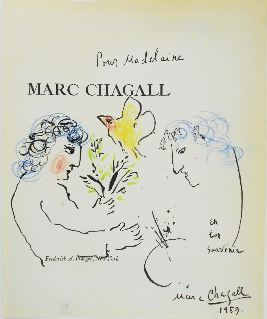 Marc Chagall (1887-1985) Ink & Watercolor