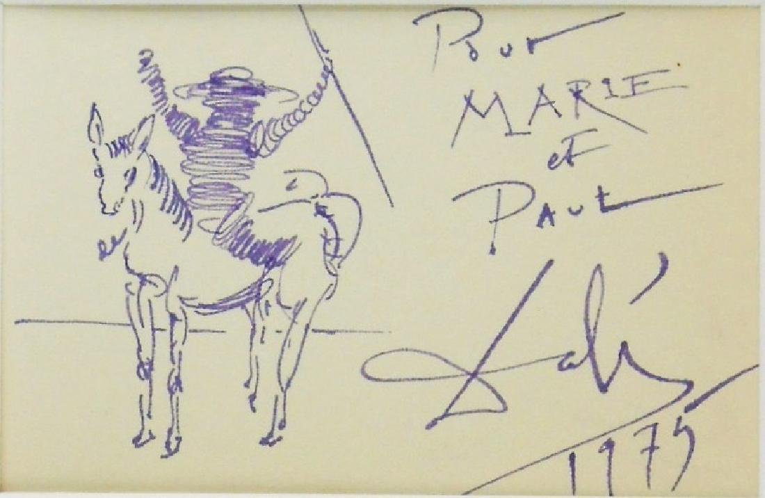 Salvador Dali (1904-1989) Purple Ink Drawing