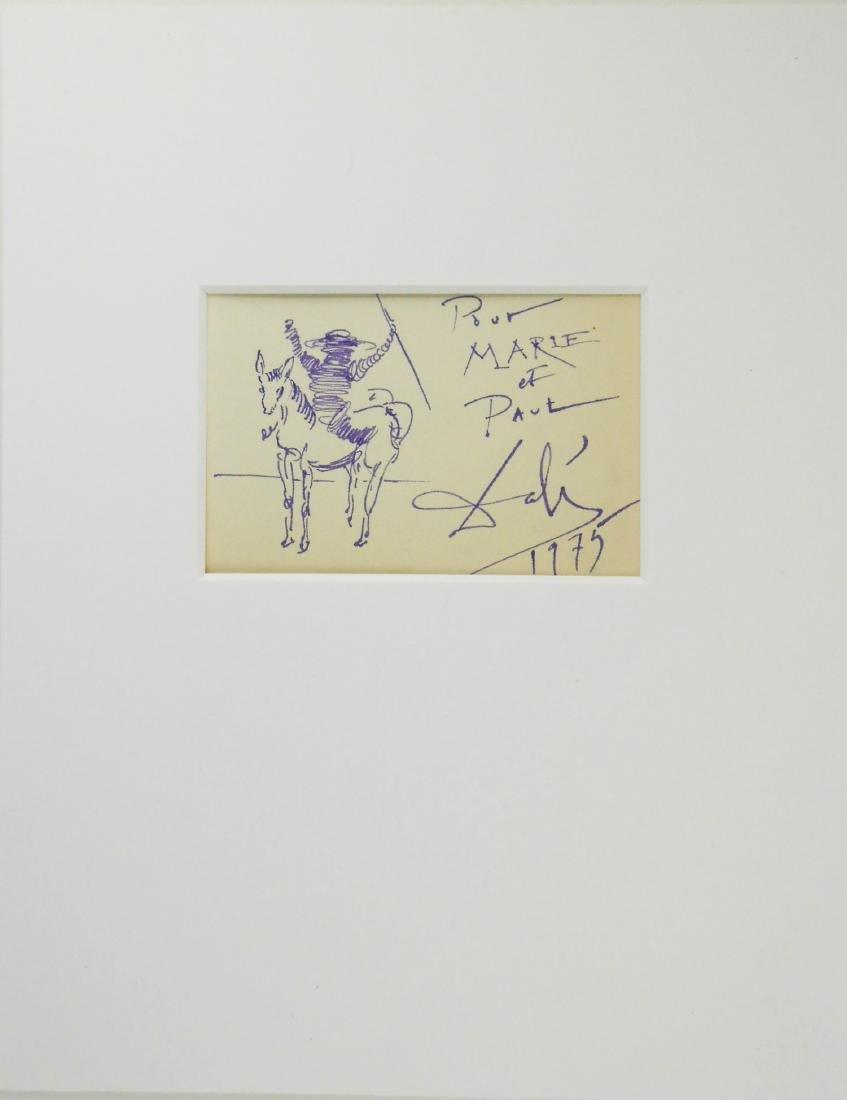 Salvador Dali (1904-1989) Purple Ink Drawing - 2