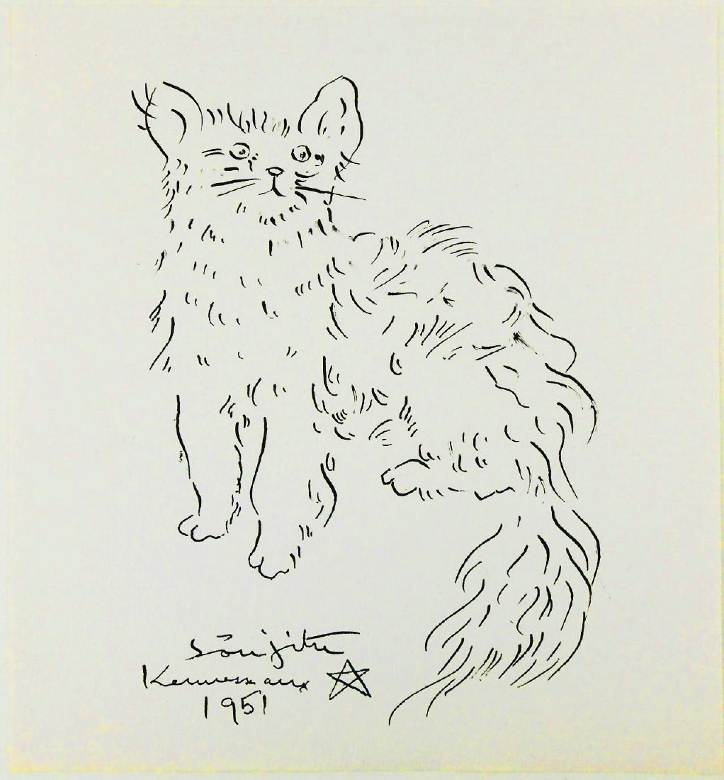 Tsuguharu Foujita (1886-1968) Ink Drawing