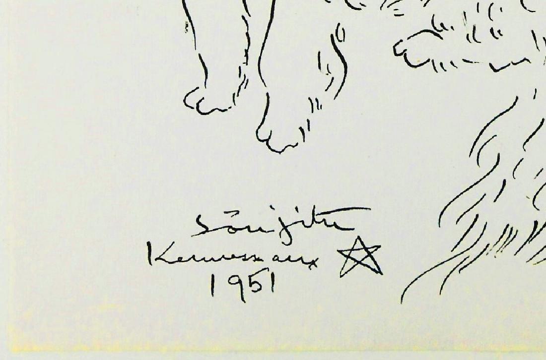 Tsuguharu Foujita (1886-1968) Ink Drawing - 2