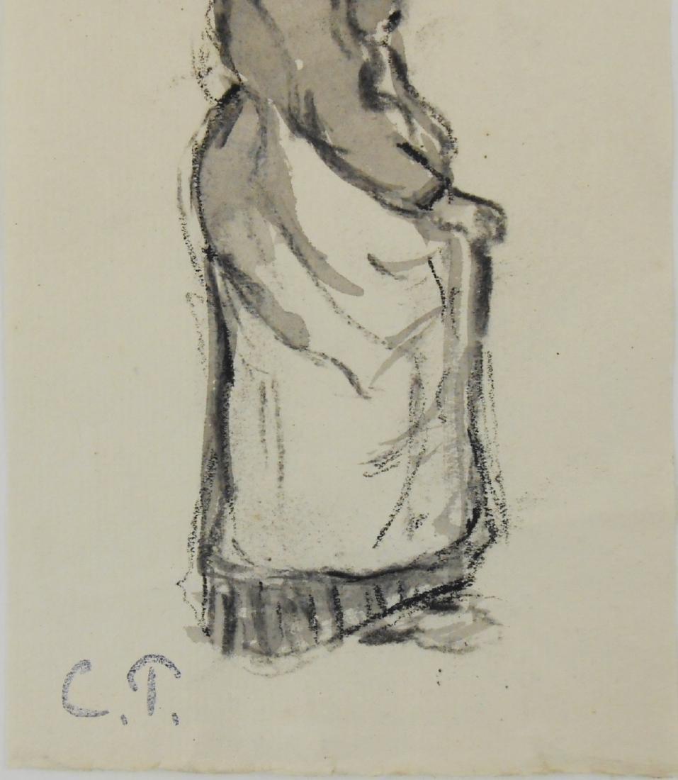 Camille Pissarro (1830-1903) Black Chalk Drawing - 2