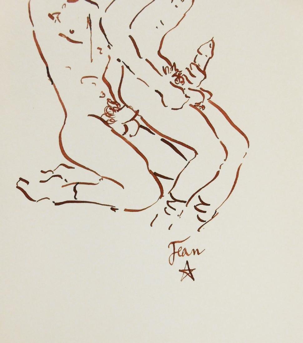 Jean Cocteau (1889-1963) Erotic Drawing - 2