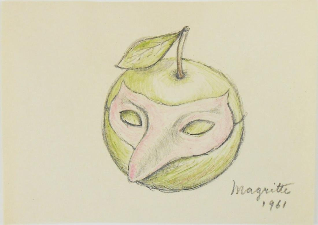 Rene Magritte (1898-1967) Colored Pencil Drawing - 2