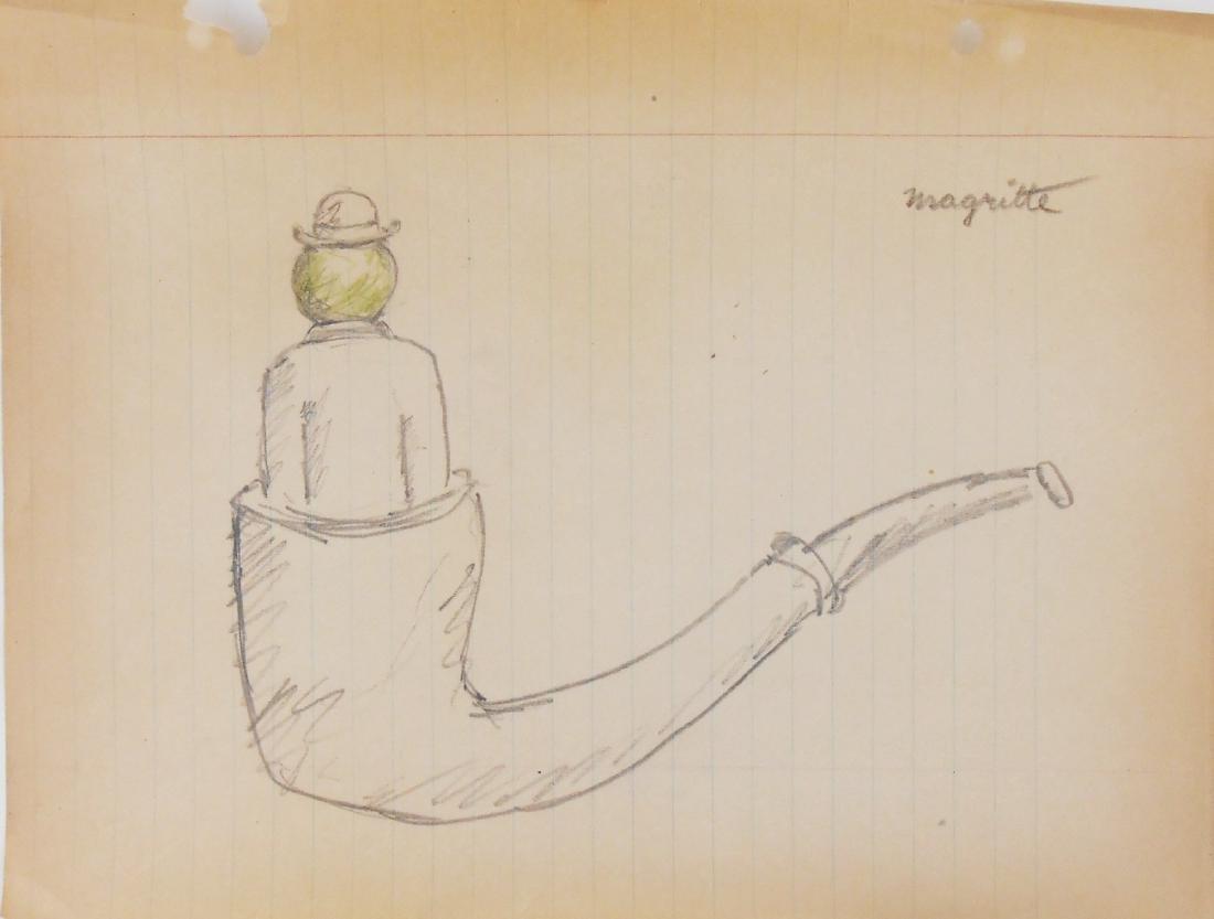 Rene Magritte (1898-1967) Pencil Sketch