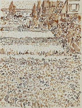 Vincent Van Gogh (1853-1890) Ink Drawing