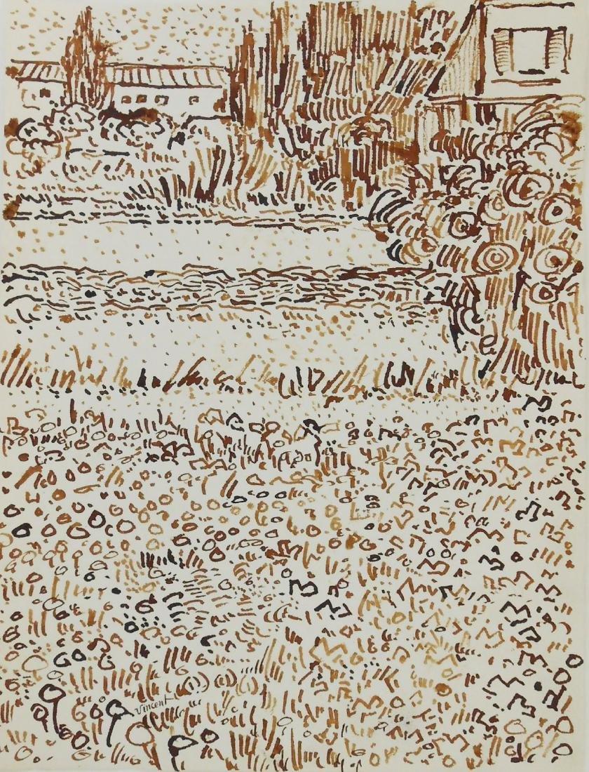 Vincent Van Gogh (1853-1890) Ink Drawing